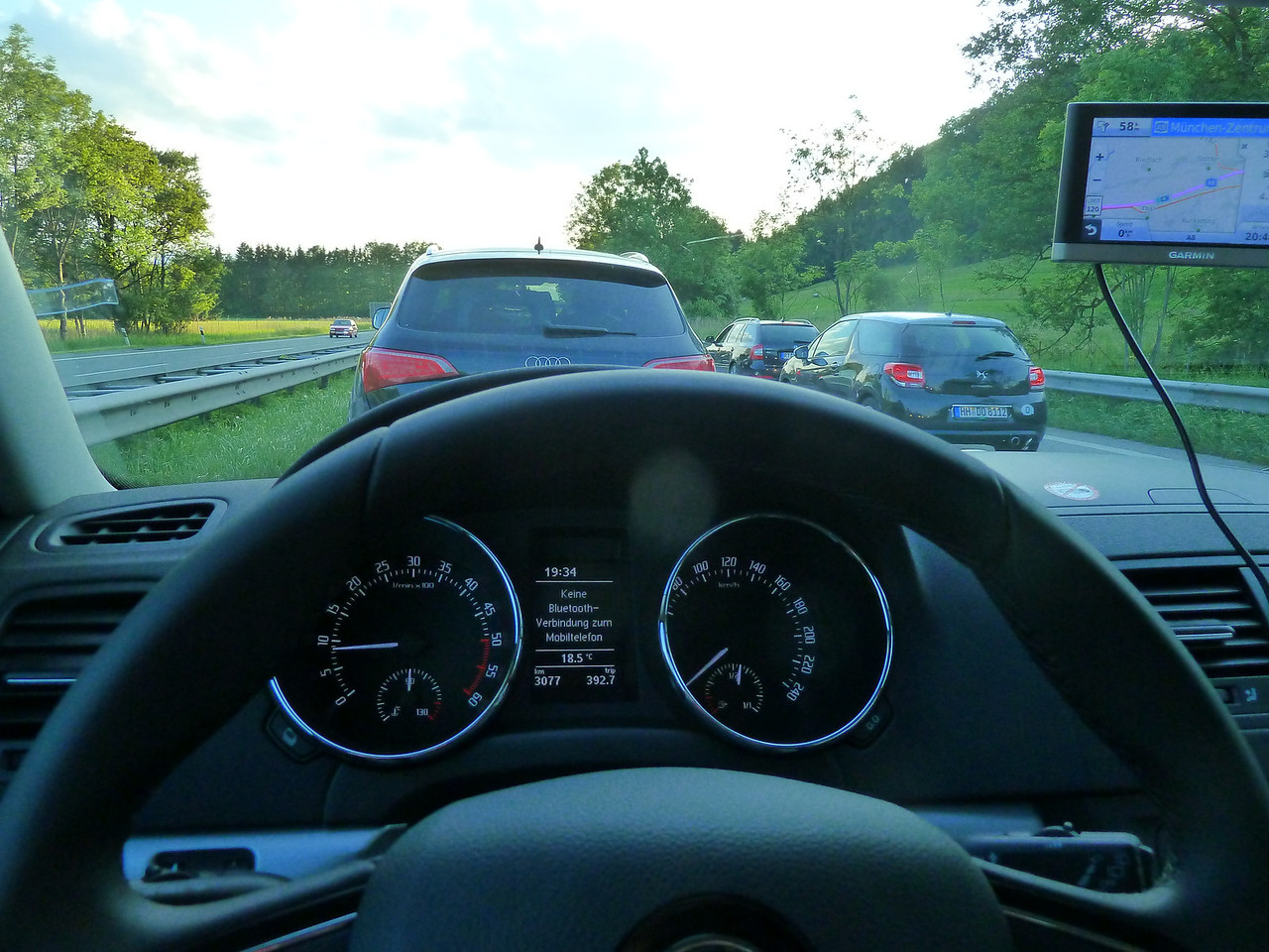 With a few other of our close friends on the road home after a long weekend.  Nothing like a little bumper-to-bumper traffice on the German Autobahns.