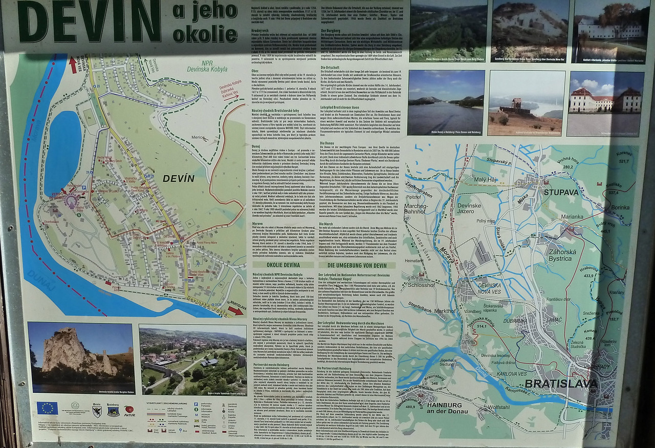To Devin, a castle near the Austrian border