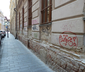 So much beuatiful restoration in some place and grafitti and crumbling walls in others.