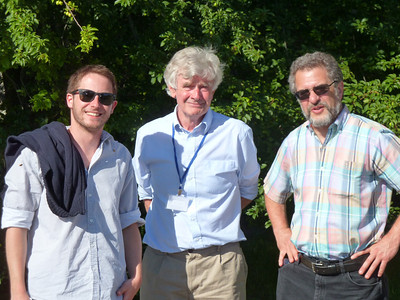Jaume, Adriaan, and Dana enjoying the sun and some science.