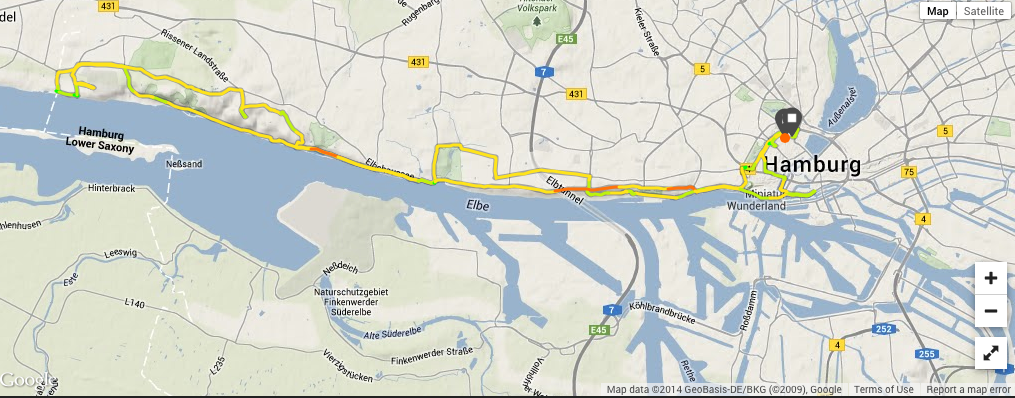 Another ride, this time along the Elbe River, which flows through the City