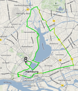 FIrst bike tour of the city on Pfingtsmontag.