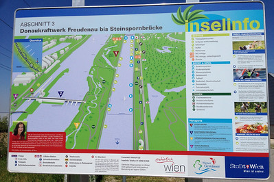 One of the many maps along the route.