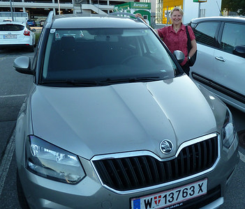 We say goodbye to our trusty Skoda in Vienna