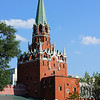 One of the main towers at the entrance to The Kremlin.