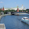 This is a shot of the Kremlin from the walking bridge next to the Cathedral of Christ the Savior. In the foreground is the same river cruise ship that I was on Thursday evening.