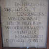 Plaque thanking the people of Cincinnati for their help in rebuilding St. Peter's.