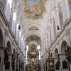 Inside Old St. Peter's.