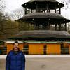 Jason at the Chinesischer Turm in the Englischer Garten.