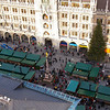 Marienplatz full of vendors for the Christmas market.