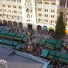 Marienplatz full of vendors for the Christmas market.