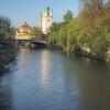 Isar River and Saint Luke's Church