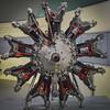 BMW Museum: 1933 model 132 airplane engine