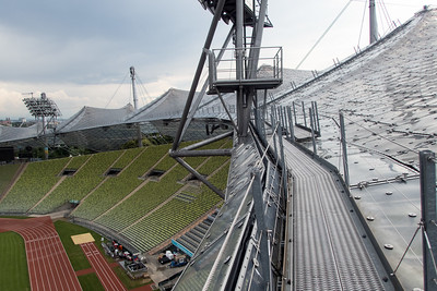 Olympic Stadium Climb, Munich Germany