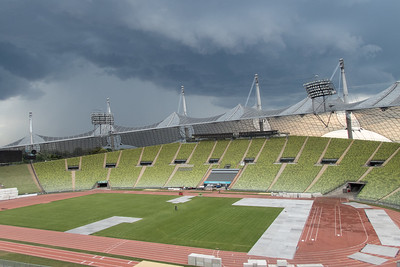 Storms over Olympic Stadium, Munich Germany