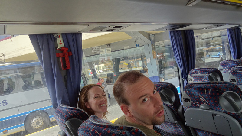 Brett and Ailish...thrilled about the 3.5 hour bus trip