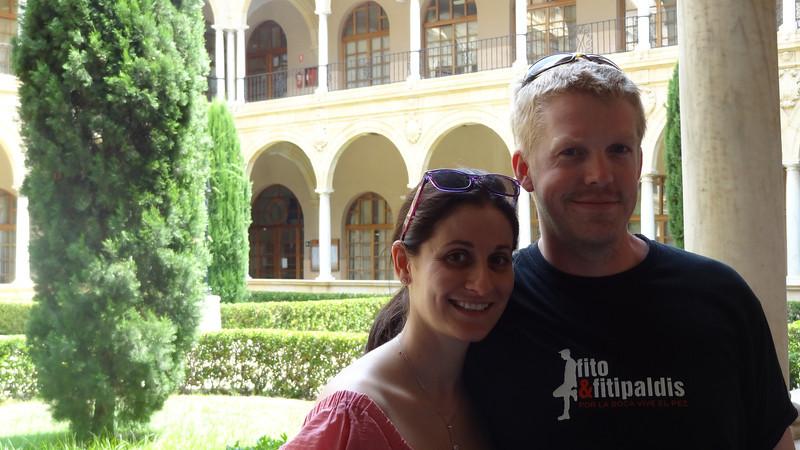 Bren and Vir at the University of Murcia