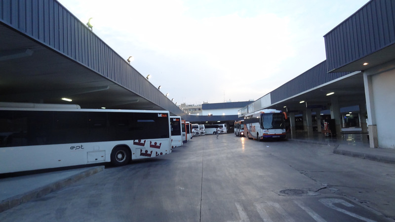 The bus station in Murcia