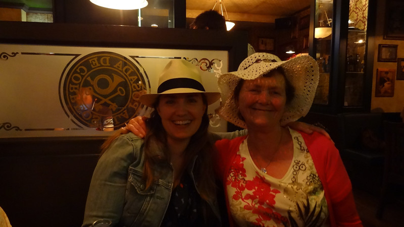 Cath and I and our hats