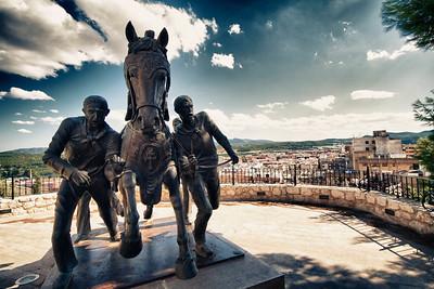 Wine horse statue, Caravaca de la Cruz