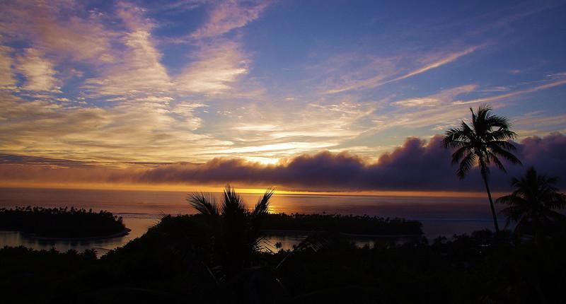 view from the holiday house,Rarotonga