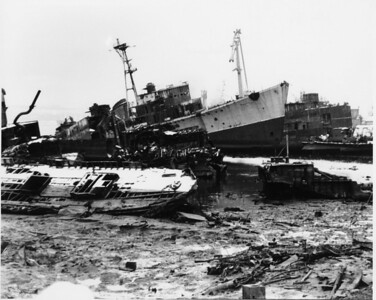 These vessels seemed to have been beached and then abandoned or used for spares.