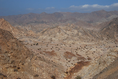 Looking back into the wadi, Yitti, Oman