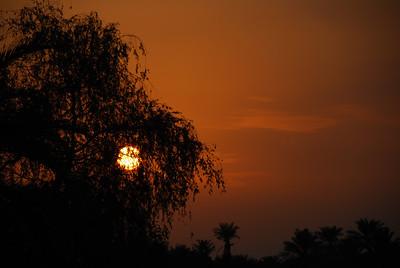 Sunset at Sohar on the road back to Dubai.