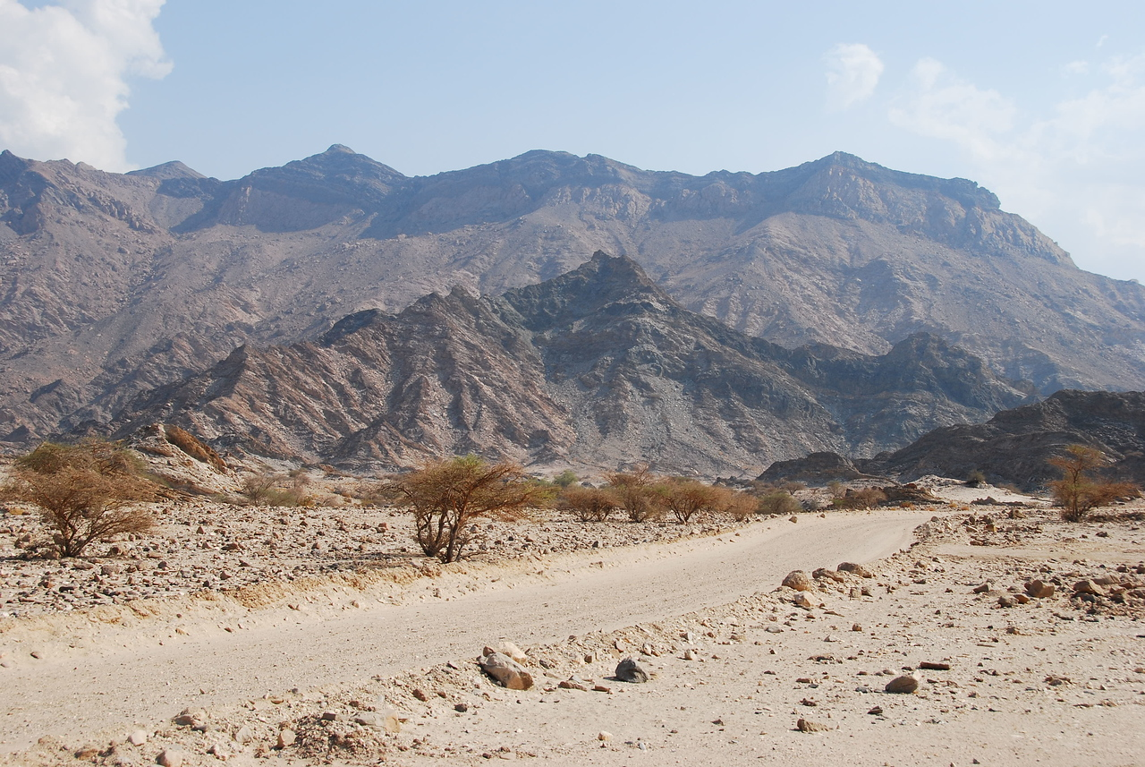 In a wadi out of Yitti, Oman