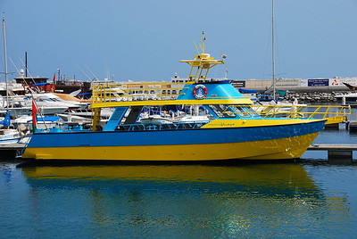 Keeping the blue and yellow theme, here's a eyeball searing coastal patrol boat.