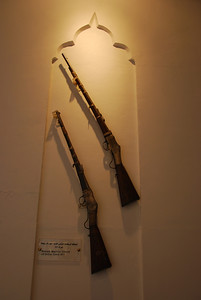 Martini Henry rifles at the Sultan's Armed Forces Museum in Muscat