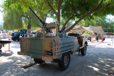 Part of the outdoor display at the Sultan's Armed Forces Museum in Muscat