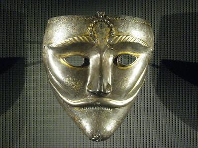 Turkish war mask - amazing, stunning, beautiful in a warlike way.