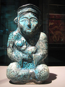 Figurine of mother and child, from Iran 12th century