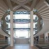 Atrium view from entrance lobby. Museum of Islamic Art, Doha, Qatar.