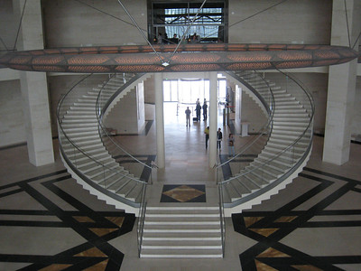The central staircase in the museum.