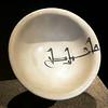 Bowl, earthenware, white glaze with painting in blue, Basra, Iraq, 9th century. Museum of Islamic Art, Doha, Qatar.