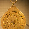 Brass astrolabe made by Ahmed ibn Husain ibn Baso, 1309, Granada, Spain. Museum of Islamic Art, Doha, Qatar.
