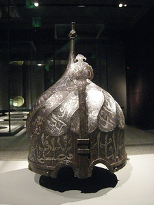 13th century military helmet from Turkey.