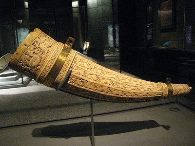 Ivory hunting horn