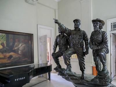 Che, Fidel, Camilo statue at the Museo de la Revolución (Museum of the Revolution), Havana, Cuba