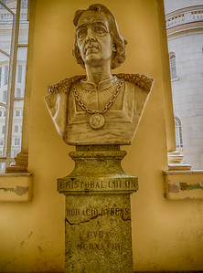 Christopher Columbus statue at the Museo de la Revolución (Museum of the Revolution), Havana, Cuba