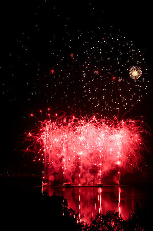 Les Grand Feux over Lac Leamy!  We had front row seats from our hotel room.