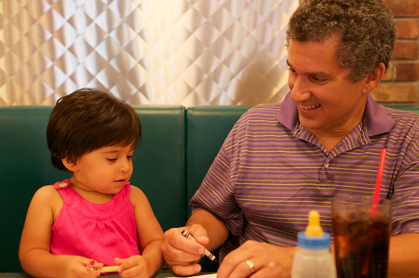 Ishana with her dotting dad