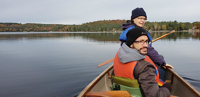 Perfect canoeing weather on two mornings.