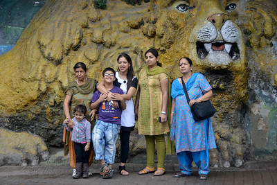 Tourists at Mussoorie, Uttaranchal, India