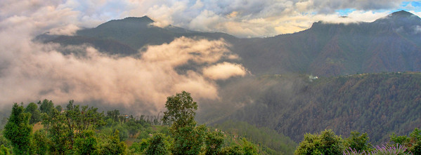 Panormaic view: Mussoorie, Uttaranchal, India