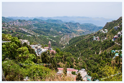 View of Mountains from Library Chowk, Mussoorie