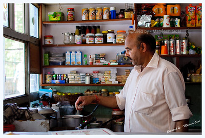 Anilji - owner of Anil's Cafe at Char Dukaan in Landour