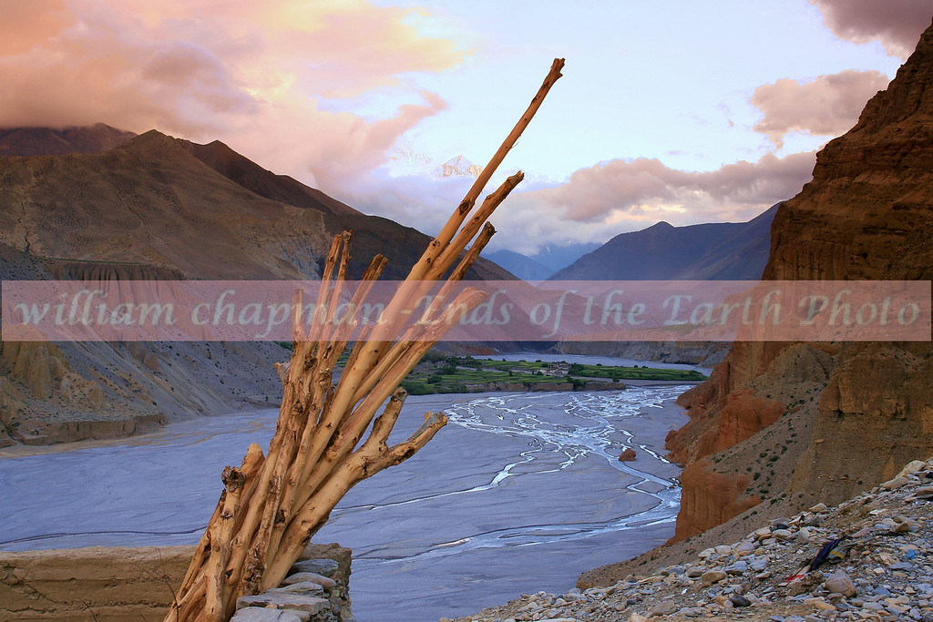 Kali Gandaki River gorge as seen from Chele village enroute to LoMantang